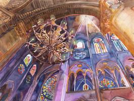 Notre Dame de Paris interior by takmaj