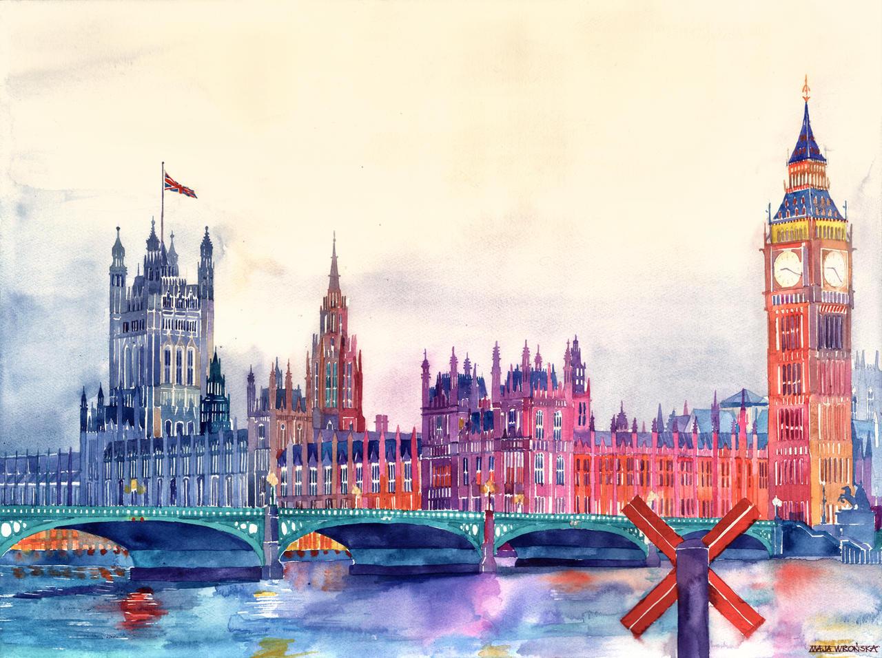 Sunset in London by takmaj