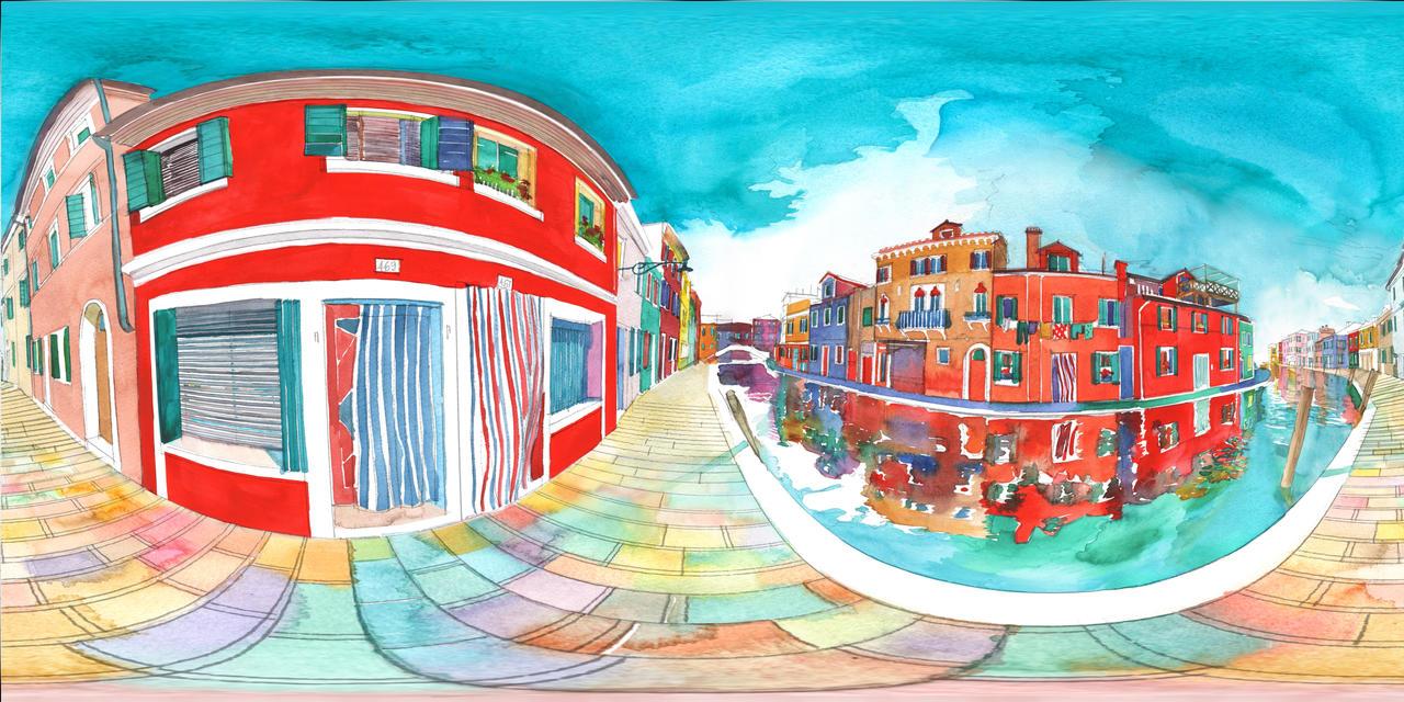 Panorama 360 of Burano by takmaj