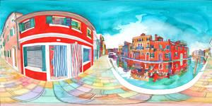 Panorama 360 of Burano