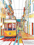 Coloring book Southern Europe Cities: Lisbon color by takmaj