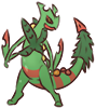 Mega Sceptile Sticker SMALL by Riazey