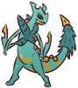 Shiny Mega Sceptile Sticker SMALL by Riazey