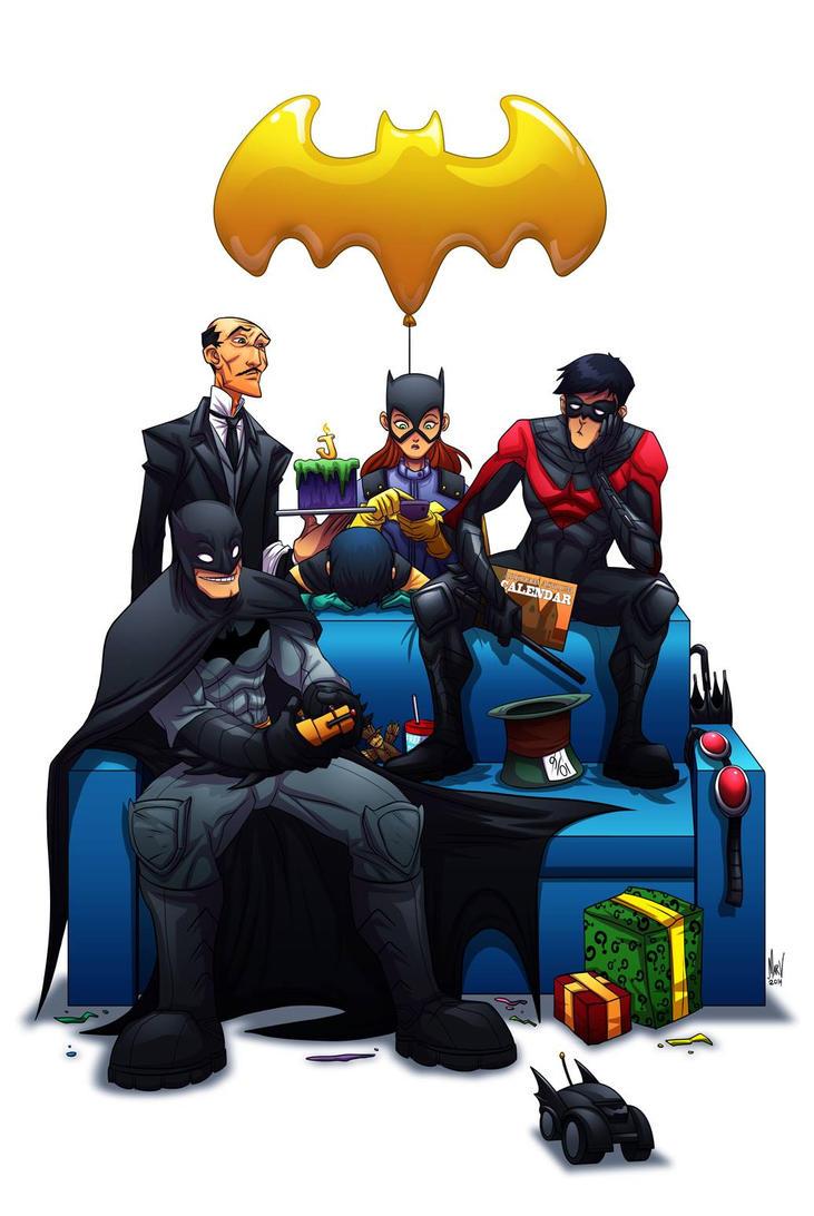 Bat Family by Paranoidvin