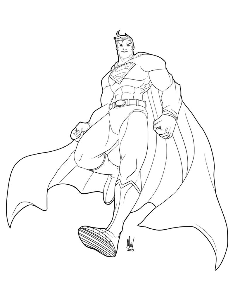 Superman Lineart by Paranoidvin
