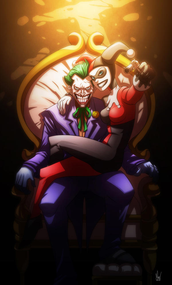 Joker and Harley Quinn by Paranoidvin