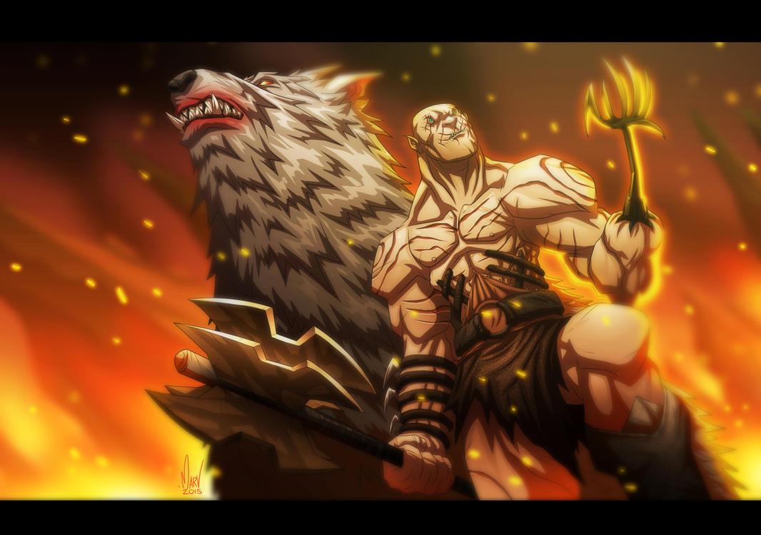 Azog the Defiler by Paranoidvin