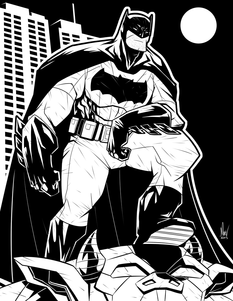 Batfleck by Paranoidvin