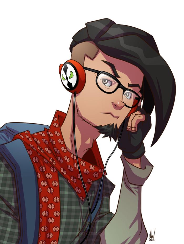 Hipster Mario by Paranoidvin