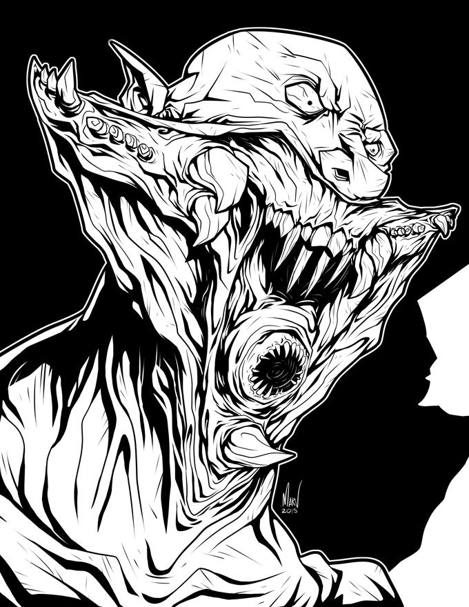 Jared Nomak (inks) by Paranoidvin