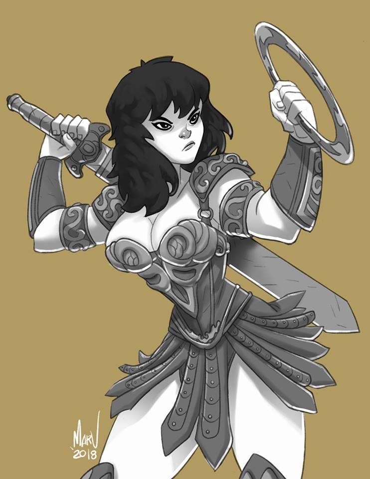 Xena Warrior Princess by Paranoidvin