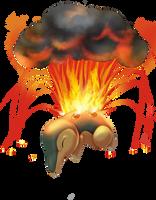 Cyndaquil used Eruption by MiladySnowdrop