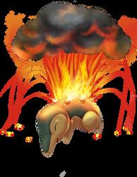 Cyndaquil used Eruption