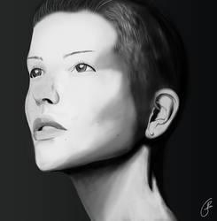 [Way to paint] #2 : Portrait of a girl by Hokimisu