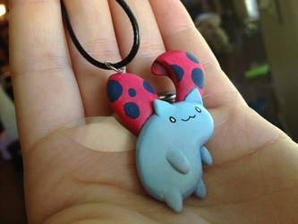 Catbug Necklace by Gatobob