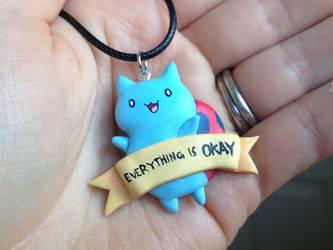 Catbug Necklace - EVERYTHING IS OKAY
