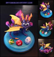Spyro Sculpture by Gatobob