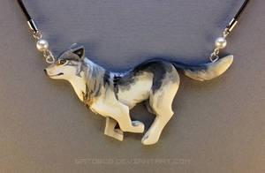 Running Wolf Necklace