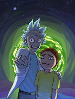 RICK AND MORTY by Gatobob
