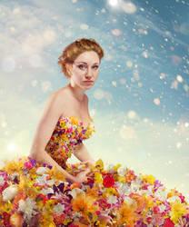 Flower dress 1 mini by Danapra