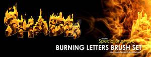 Shades Photoshop Brushes Burning Letters