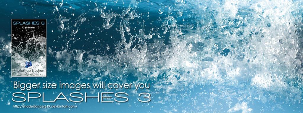 Shades SPLASHES 3 BRUSHES for Photoshop by shadedancer619