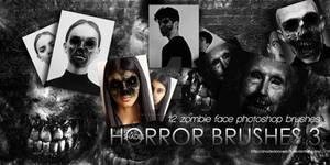Zombie Faces  Photoshop Brushes HORROR 3