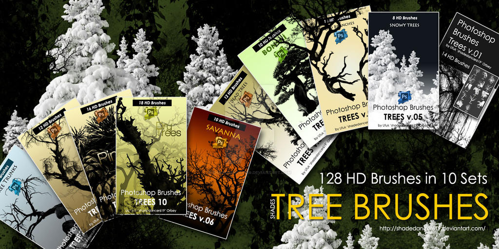 Photoshop Tree Brushes by shadedancer619