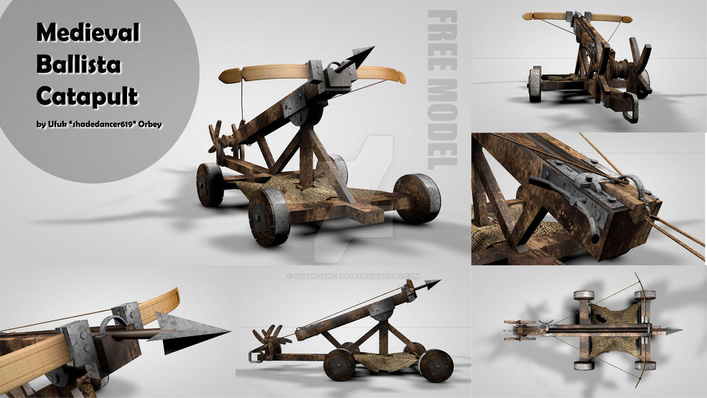Medieval Ballista Catapult 3D Model by shadedancer619 on DeviantArt