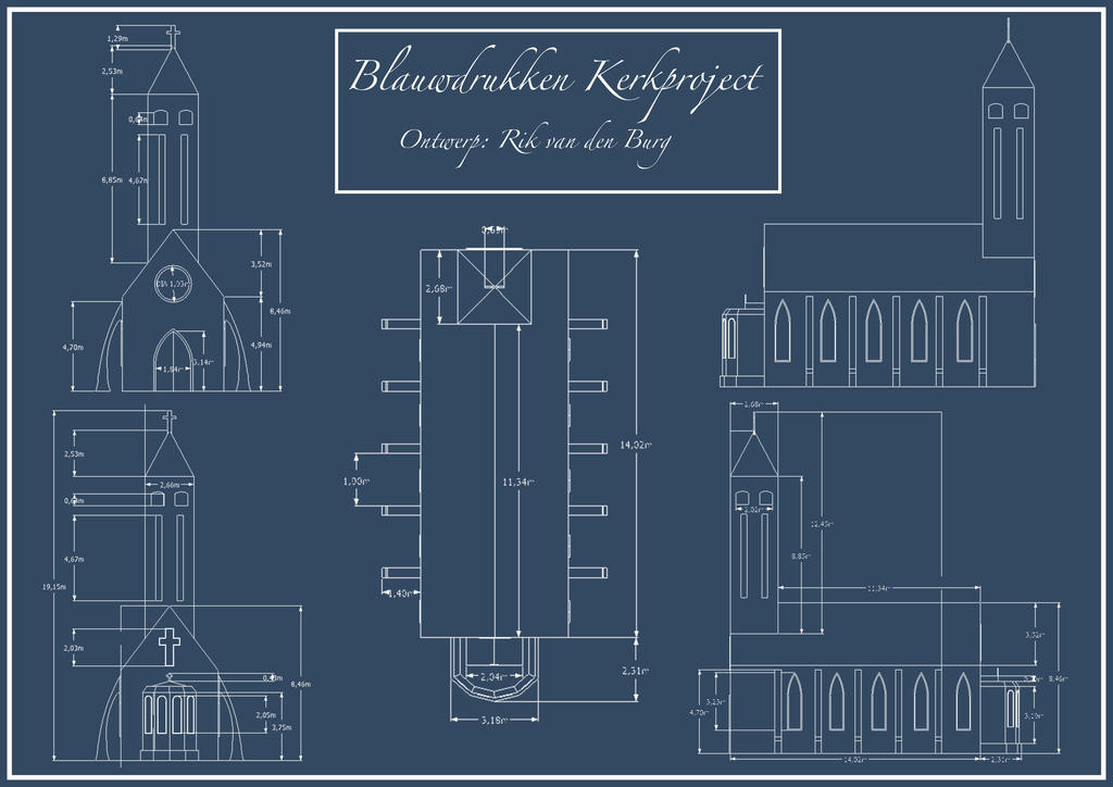 3d Modeling Practise Church Blueprints By Vdburg On