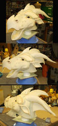 Dragon Head Mock-up by WanderingWindward