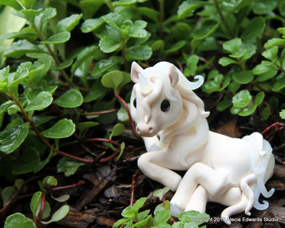 Unicorn - Polymer Clay by AleciaEdwards