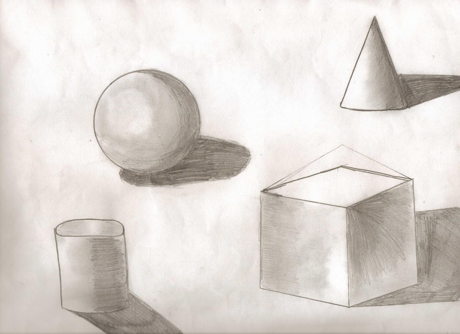 Basic 3d shapes black and white by roniwalker on deviantart for Black and white shapes