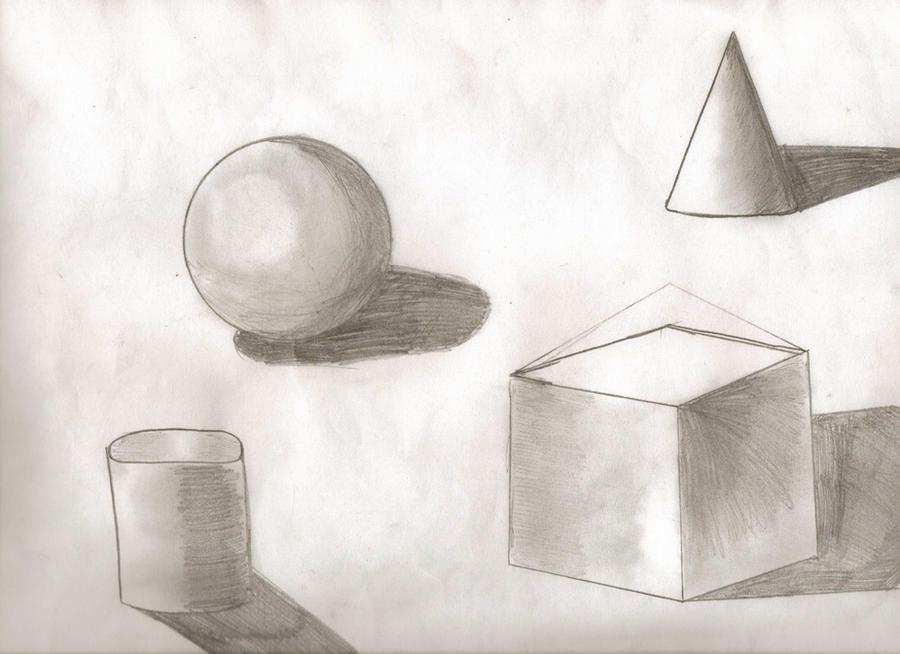 basic 3d shapes black and white by roniwalker on deviantart. Black Bedroom Furniture Sets. Home Design Ideas