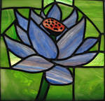 Black Lotus Stained Glass