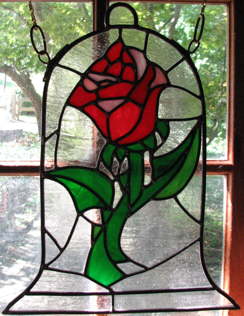 Beauty and the Beast Rose Stained Glass by AutobotWonko on ...