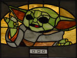 Baby Yoda Stained Glass Panel