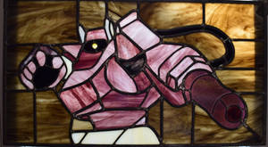 Shockwave Stained Glass Panel Retake