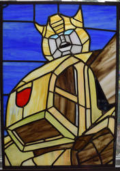 Bumblebee Stained Glass Panel Retake