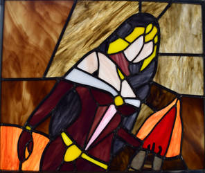 Liliana if the Veil Stained Glass Panel