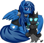 Free Hugs : Azure and Plushling