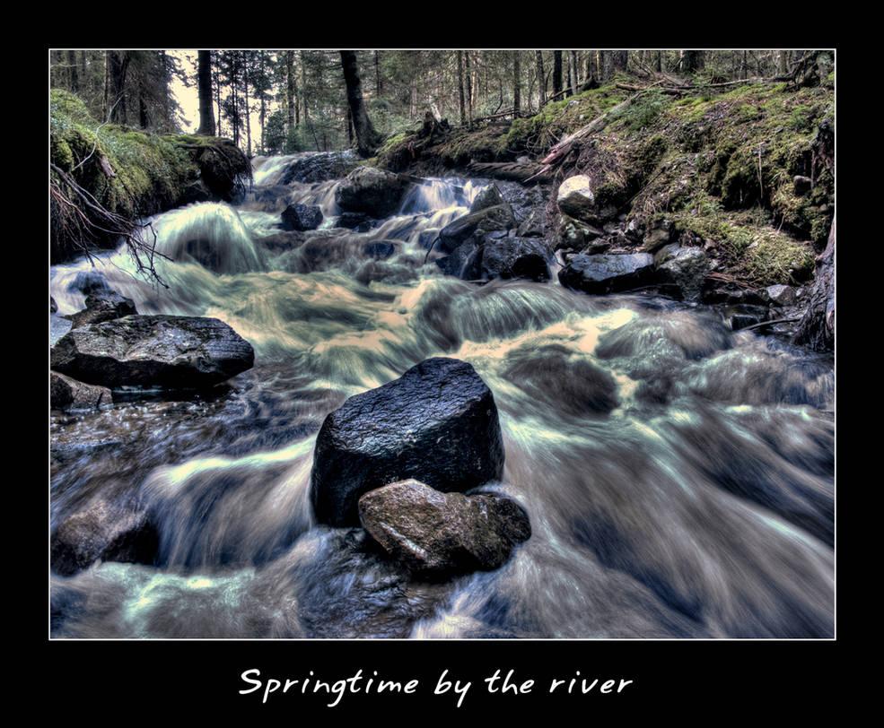 Springtime by the river.