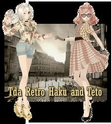 [MMD TDA] Retro Girls [DL] by DefectDoll-Misao
