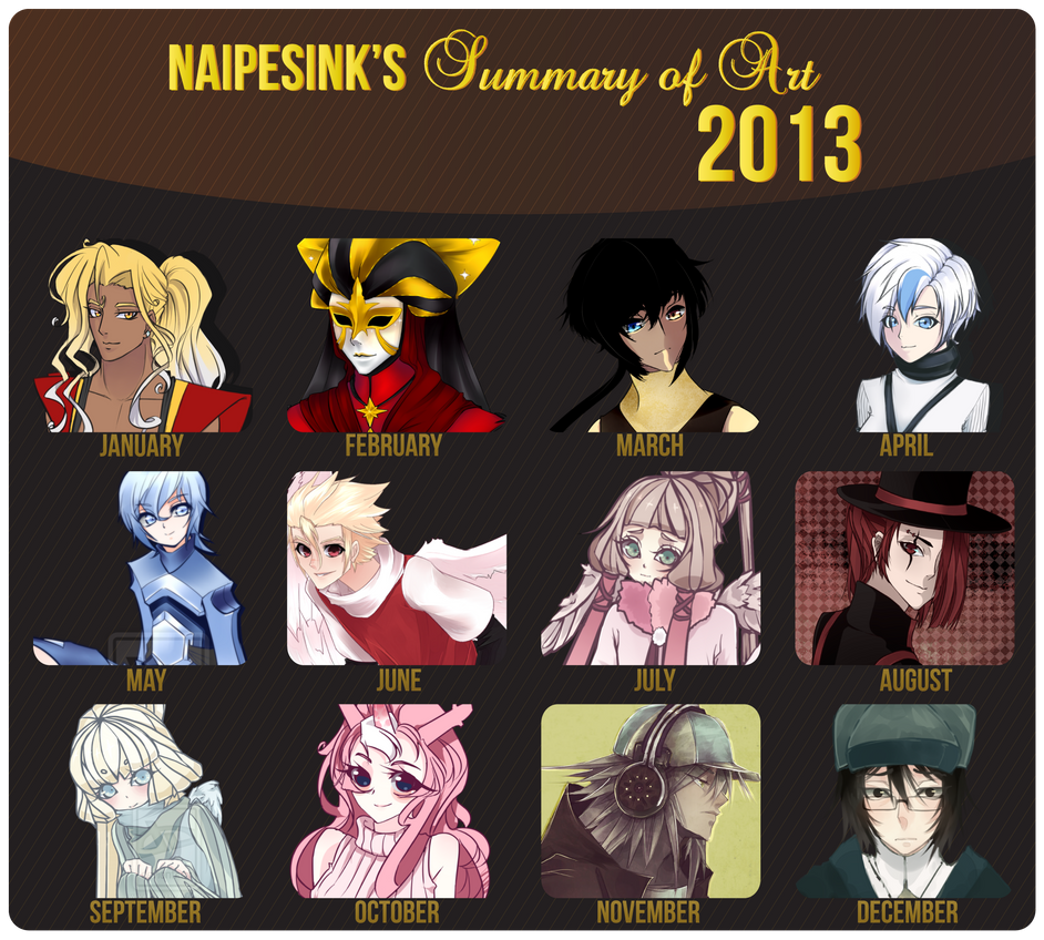 Summary of Art 2013 by NaipesInk