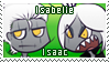Isaac e Isabelle FanStamp by NaipesInk