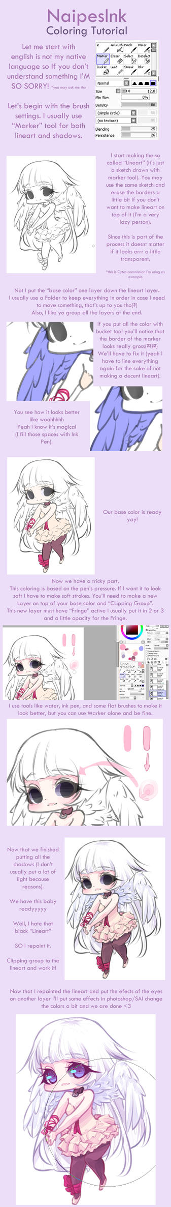 Coloring Tutorial by NaipesInk