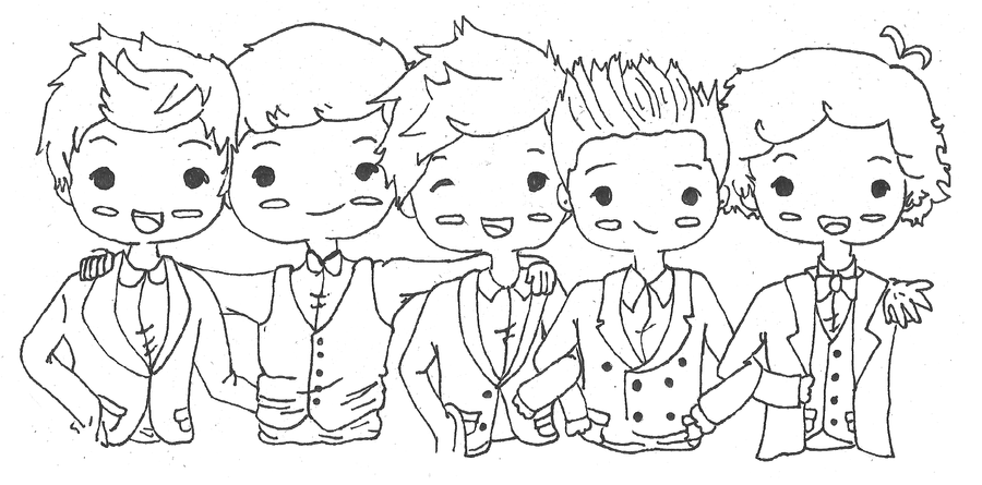 chibi one direction coloring pages - photo#4