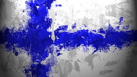 Finnish Flag Wallpaper
