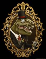 Dastardly Dinosir by GaryckArntzen
