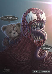 Carnage and Binky bid farewell the sun. by GaryckArntzen